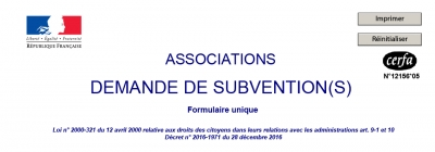 Associations : demandes de subventions